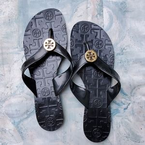 Tory Burch Thora Black Jelly Sandals Flip Flops